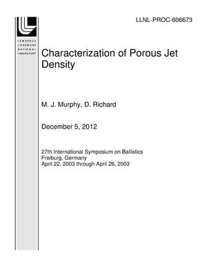 Primary view of object titled 'Characterization of Porous Jet Density'.