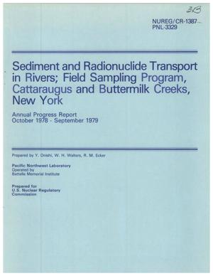 Primary view of object titled 'Sediment and Radionuclide Transport in Rivers; Field Sampling Program, Cattaraugus and Buttermilk Creeks, New York'.