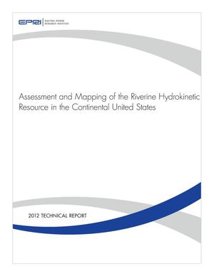 Primary view of object titled 'Assssment and Mapping of the Riverine Hydrokinetic Resource in the Continental United States'.