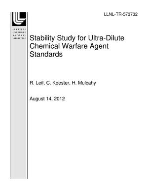 Primary view of object titled 'Stability Study for Ultra-Dilute Chemical Warfare Agent Standards'.