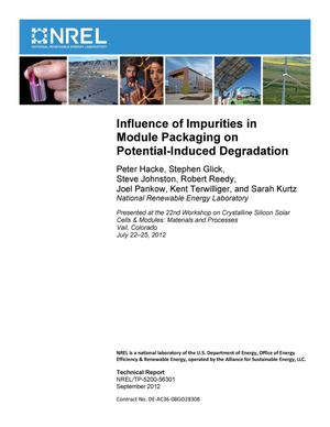 Primary view of object titled 'Influence of Impurities in Module Packaging on Potential-Induced Degradation'.