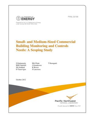 Primary view of object titled 'Small- and Medium-Sized Commercial Building Monitoring and Controls Needs: A Scoping Study'.