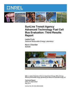 Primary view of object titled 'SunLine Transit Agency Advanced Technology Fuel Cell Bus Evaluation: Third Results Reports'.