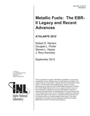 Primary view of object titled 'Metallic fuels: The EBR-II legacy and recent advances'.