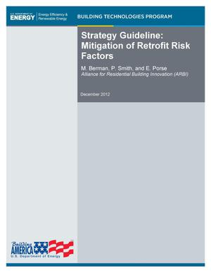 Primary view of object titled 'Strategy Guideline: Mitigation of Retrofit Risk Factors'.