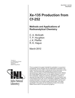 Primary view of object titled 'Xe-135 Production from Cf-252'.