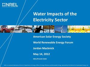 Primary view of object titled 'Water Impacts of the Electricity Sector (Presentation)'.