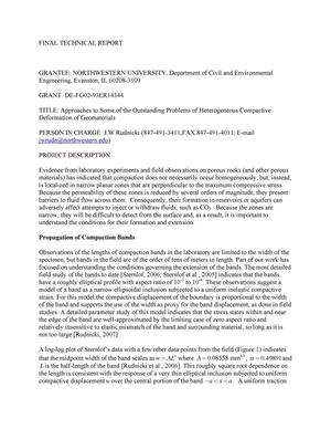 Primary view of object titled 'Final Report: Approaches to Some of the Outstanding Problems of Heterogeneous Compactive Deformation of Geomaterials'.