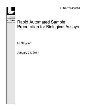 Primary view of object titled 'Rapid Automated Sample Preparation for Biological Assays'.
