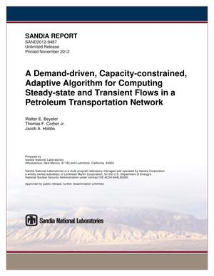 Primary view of object titled 'A demand-driven, capacity-constrained, adaptive algorithm for computing steady-state and transient flows in a petroleum transportation network.'.