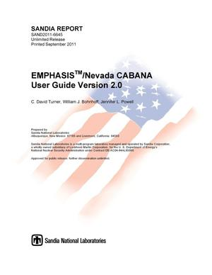 Primary view of object titled 'EMPHASIS/Nevada CABANA user Guide. Version 2.0.'.