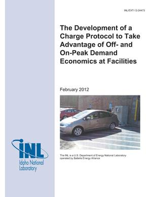 Primary view of object titled 'The development of a charge protocol to take advantage of off- and on-peak demand economics at facilities'.