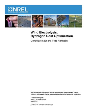 Primary view of object titled 'Wind Electrolysis: Hydrogen Cost Optimization'.