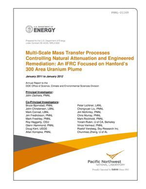 Primary view of object titled 'Multi-Scale Mass Transfer Processes Controlling Natural Attenuation and Engineered Remediation: An IFRC Focused on Hanford's 300 Area Uranium Plume January 2011 to January 2012'.