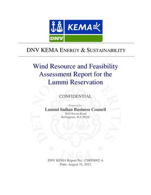 Primary view of object titled 'Wind Resource and Feasibility Assessment Report for the Lummi Reservation'.