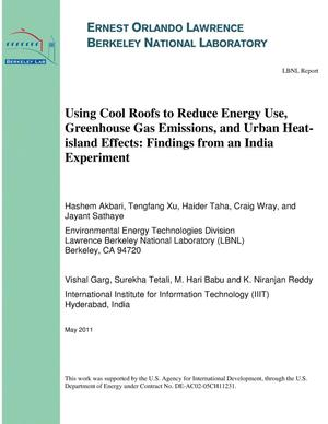 Primary view of object titled 'Using Cool Roofs to Reduce Energy Use, Greenhouse Gas Emissions, and Urban Heat-island Effects: Findings from an India Experiment'.