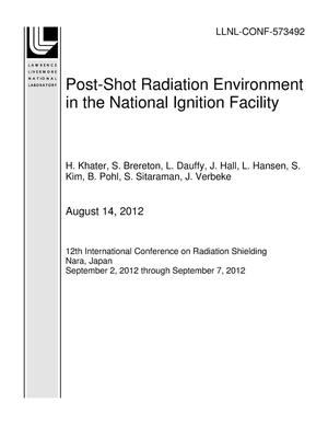 Primary view of object titled 'Post-Shot Radiation Environment in the National Ignition Facility'.