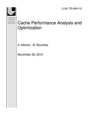 Primary view of object titled 'Cache Performance Analysis and Optimization'.