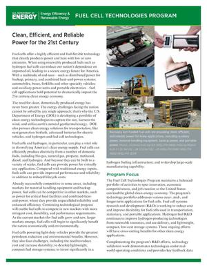Primary view of object titled 'Clean, Efficient, and Reliable Power for the 21st Century (Fact Sheet)'.