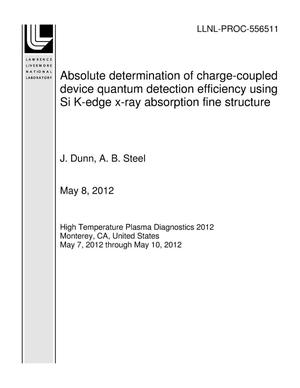 Primary view of object titled 'Absolute determination of charge-coupled device quantum detection efficiency using Si K-edge x-ray absorption fine structure'.