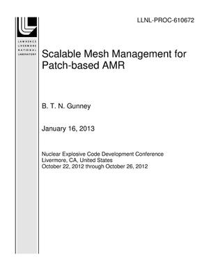 Primary view of object titled 'Scalable Mesh Management for Patch-based AMR'.
