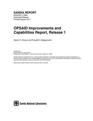 Primary view of object titled 'OPSAID improvements and capabilities report.'.