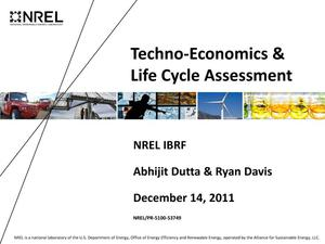Primary view of object titled 'Techno-Economics & Life Cycle Assessment (Presentation)'.