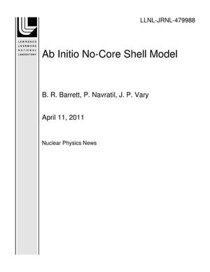 Primary view of object titled 'Ab Initio No-Core Shell Model'.