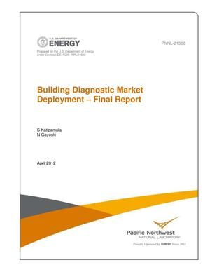 Primary view of object titled 'Building Diagnostic Market Deployment - Final Report'.