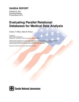 Primary view of object titled 'Evaluating parallel relational databases for medical data analysis.'.