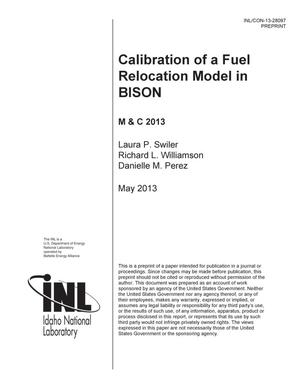 Primary view of object titled 'Calibration of a Fuel Relocation Model in BISON'.