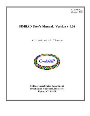 Primary view of object titled 'SIMBAD Users Manual. Version v.1.36'.