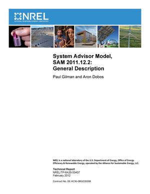 Primary view of object titled 'System Advisor Model, SAM 2011.12.2: General Description'.