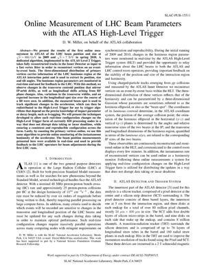 Primary view of object titled 'Online Measurement of LHC Beam Parameters with the ATLAS High-Level Trigg Er'.