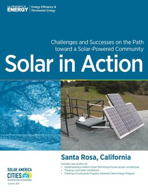 Primary view of object titled 'Santa Rosa, California: Solar in Action (Brochure)'.