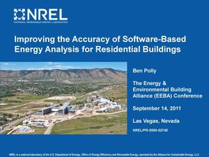 Primary view of object titled 'Improving the Accuracy of Software-Based Energy Analysis for Residential Buildings (Presentation)'.