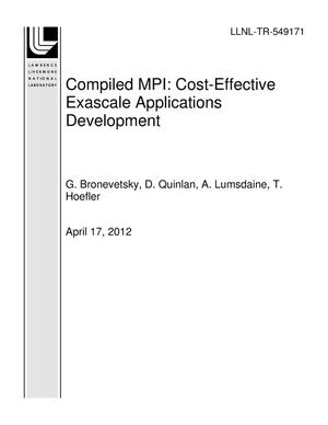 Primary view of object titled 'Compiled MPI: Cost-Effective Exascale Applications Development'.