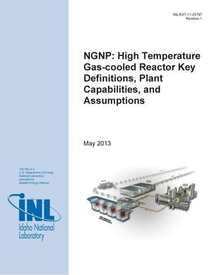 Primary view of object titled 'NGNP: High Temperature Gas-Cooled Reactor Key Definitions, Plant Capabilities, and Assumptions'.