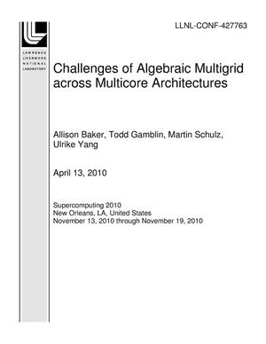 Primary view of object titled 'Challenges of Algebraic Multigrid across Multicore Architectures'.