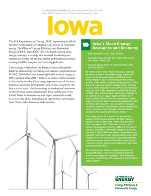Primary view of object titled 'Iowa: Iowa's Clean Energy Resources and Economy (Brochure)'.
