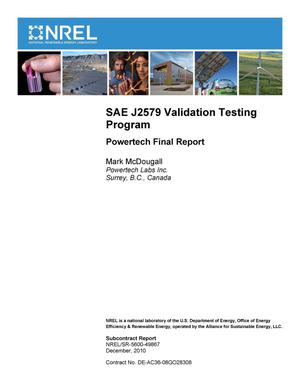 Primary view of object titled 'SAE J2579 Validation Testing Program: Powertech Final Report'.