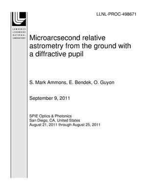 Primary view of object titled 'Microarcsecond relative astrometry from the ground with a diffractive pupil'.