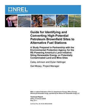 Primary view of object titled 'Guide for Identifying and Converting High-Potential Petroleum Brownfield Sites to Alternative Fuel Stations'.