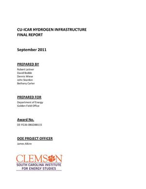 Primary view of object titled 'CU-ICAR Hydrogen Infrastructure Final Report'.
