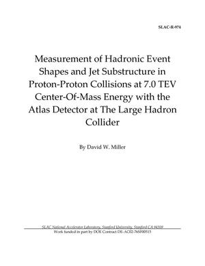 Primary view of object titled 'Measurement of Hadronic Event Shapes and Jet Substructure in Proton-Proton Collisions at 7.0 TeV Center-of-Mass Energy with the ATLAS Detector at the Large Hadron Collider'.