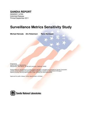 Primary view of object titled 'Surveillance metrics sensitivity study.'.