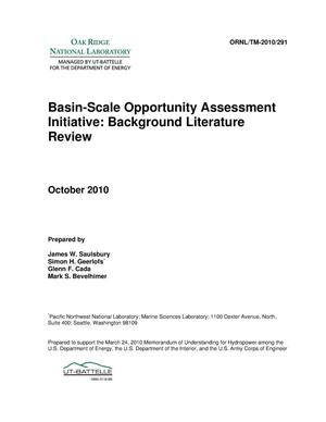 Primary view of object titled 'Basin-Scale Opportunity Assessment Initiative Background Literature Review'.