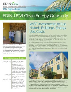 Primary view of object titled 'EDIN-USVI Clean Energy Quarterly: Volume 2, Issue 1, June 2012 (Newsletter)'.