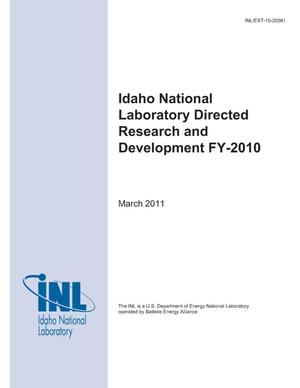 Primary view of object titled 'Laboratory Directed Research and Development FY-10 Annual Report'.