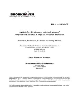 Primary view of object titled 'Methodology Development and Applications of Proliferation Resistance and Physical Protection Evaluation.'.